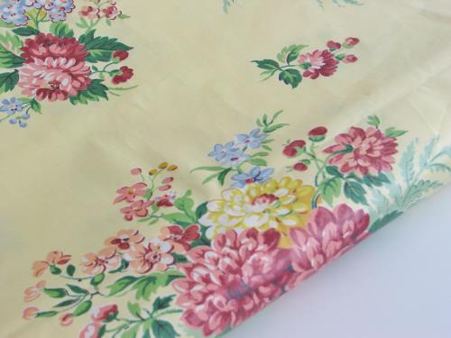 Light Yellow Floral Chintz