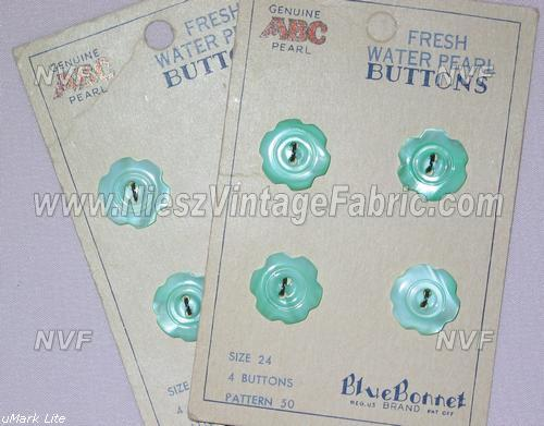 4 Jadite Freshwater Pearl Buttons