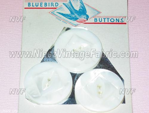 3 Large White Pearl Buttons