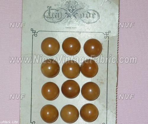 12 Tan Small Buttons