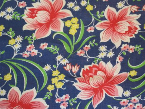 Colorful Flowers on Navy