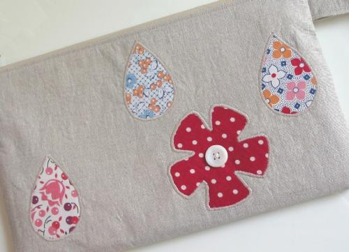 Showers and Flowers Wristlet