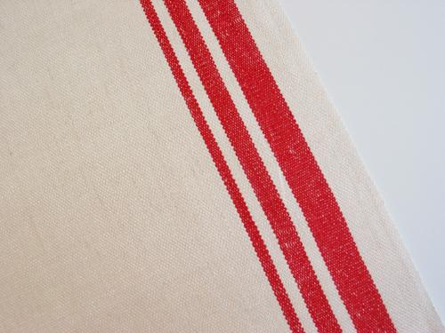 Red Stripe Linen Towel