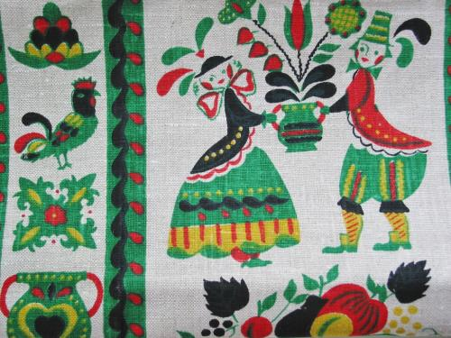 Vintage Penn Dutch Linen Kitchen Towel