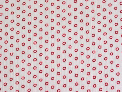Tiny Red Circles Vintage Fabric